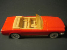 Vintage 1983 Hot Wheels '65 Mustang Convertible, Red, Whitewalls