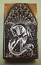 """PEACOCK"" LETTER ""S"" PRINTING BLOCK."