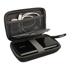 External Slim Portable Hard Drive Storage Case Logic Black NEW