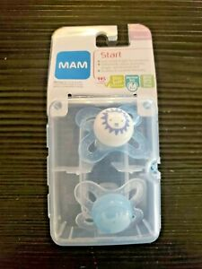MAM Start Newborn Pacifiers 2 pack 1 Sterilizing Pacifier Case Newborn Baby