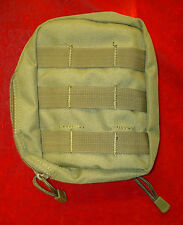 """OD Green 7"""" x 5"""" x 2"""" Molle Utility Zippered Pouch"""