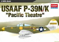 Academy 1/48 USAAF P-39N/K Pacific Theatre Aircraft Plastic Model Kit 12333