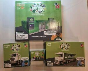 Woolworths Bricks Bundle: Starter Deluxe, Delivery Truck, Large Truck & Figurine
