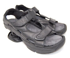 Z-COIL men pain relief orthotic sandal black leather Sidewinder size 11