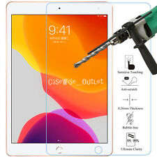 """Apple iPad 10.2"""" (2019) Fits Tempered Glass Screen Protector Guard Cover Film"""
