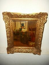 Antique oil painting,{ Musician reading music, signed A. Mertens }.