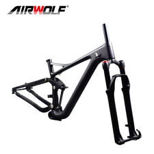 T1000 Carbon Suspension MTB Frame 29ER Mountain Bike Enduro Frame Fork 15/17/19