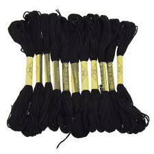 12pcs Black Embroidery Floss Thread for Cross Stitch Handcraft Tool Accessories
