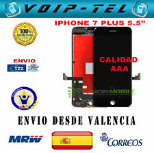 PANTALLA COMPLETA LCD DISPLAY IPHONE 7 +  PLUS CALIDAD AAA+ NEGRO ECRAN SCHERMO