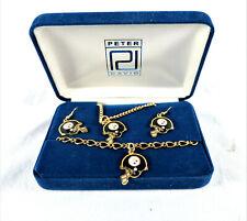 New Pittsburgh Steelers Jewelry Set Necklace Earrings & Bracelet by Peter David