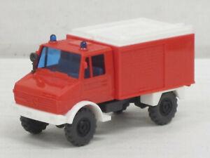 Mercedes-Benz Unimog TLF 8/18 in blaßrot, ohne OVP, Wiking, 1:87, Feuerwehr