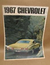 VINTAGE ORIGINAL 1967 CHEVROLET IMPALA BROCHURE GOOD CONDITION