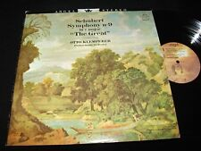 SCHUBERT°SYMPHONY No.9<>OTTO KLEMPERER<>US Pressing<>ANGEL 35946