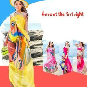 Pareo Scarf Women Beach Sarongs Beach Cover Up Summer Chiffon Scarves H2L7