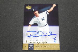 Ron Guidry 2004 Upper Deck Yankees Classics Classic Scripts Autograph