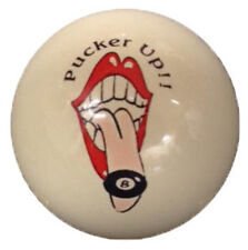 Pool/Billiards Pucker Up Custom Cue Ball New and Unique!