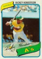 1980 Topps Rickey Henderson Rookie Card Refrigerator Magnet Oakland Athletics