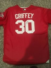 Ken Griffey Jr Signed Authentic Batting Practice jersey Reds UDA Upper Deck