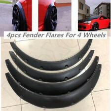 US 4pcs Universal Flexible Car Body Wheel Fender Flares Extra Wide Arches Black