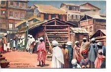 Vintage, Raphael Tuck Native Life in India Series IV 9311 Street Scene Srinagar