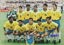Fußball Weltmeisterschaft + Weltmeister Postkarten Serie + 1994 + BRASILIEN +
