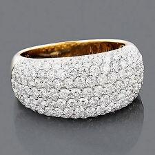 Echtschmuck Ringe Diamanten 585er Gelbgold  Top Wesselton VS 2,74 Karat Neu