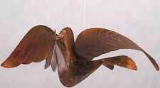 Flamed Copper Hanging Peace Dove Home, Yard Art