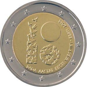 ESTONIA - 2 € Euro commemorative coin 2018 - Republic of Estonia 100 UNC