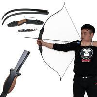 45Lbs Huntingdoor Takedown Recurve Bow Hunting Wooden RH Riser Laminated Limbs