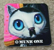"MUNK ONE Sticker 1.75"" KITTY CAT from poster print Invisible Industries"