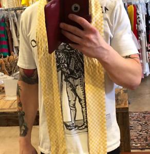 Haider Ackerman Yellow 100% silk scarf Size: ONE SIZE