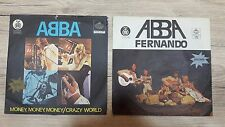 ABBA - TWO RECORDS - MONEY MONEY MONEY (1976) AND FERNANDO (1986) - YUGOSLAVIA
