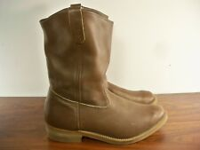 """11"""" Red Wing Nailseat Boomer Leather Mens Pull-On Motorcycle Biker Boots Size 12"""