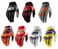 2018 100% Airmatic Gloves ADULT Full Finger Mountain Bike MTB BMX MX Motocross