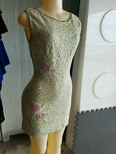 Sequenced vintage mini cocktail dress size small estelle allardale