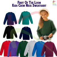 Unisex PREMIUM 70/30 KIDS RAGLAN SWEATSHIRT Boys Girls Crew Neck Plain Sweat TOP