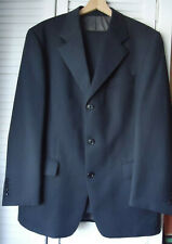 Van Kollem 100% Wool 2 Piece Single Breasted Suit Dark Grey Made in Italy Large
