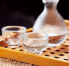 Ochoko Tokkuri Japanese glass Sake cup & bottle set Edo glass traditional craft