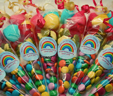 Personalised Sweet Cones for boys and girls parties,Rainbow,Pony,Spotty,Jungle
