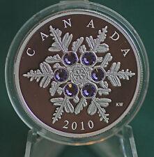 2010 Canada Silver $20 Tanzanite Snowflake crystal - mint condition - org. pkg