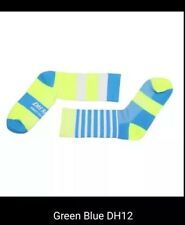cycling socks. Fluo yellow and blue