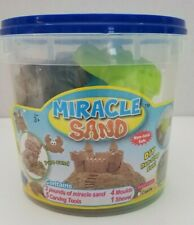 Miracle Sand Fun Kids Activity 2 Lbs 5 Tools, 4 Moulds, 1 Shovel Various Shapes