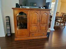 entertainment center solid wood