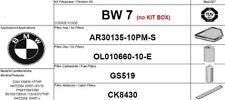 BW7 KIT 4 FILTRI TAGLIANDO BMW SERIE 320D 130 KW 177 CV E90 E91 E92