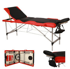 Portable 3 Fold Massage Table Aluminum Facial SPA Bed W/Free Carry Case US