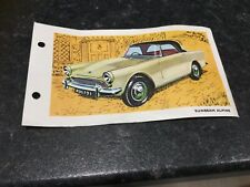 Spot On Triang Sunbeam Alpine Technical Data Card