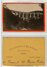 Silbermann et Weintraus, Un pont  CDV vintage albumen carte de visite,  Tirage