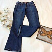 Lucky Brand Jeans Size 6 28 x 30 R Sofia Boot Cut Blue Denim Dark Wash Fall Pant