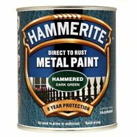 NEW HAMMERITE DIRECT TO RUST METAL PAINT - HAMMERED DARK GREEN - 750ML - 5092823