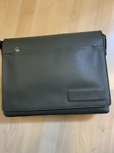 NWT Gray Calvin Klein Business Casual Flap messenger leather bag $139.50